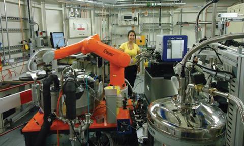 Juliana Torini visiting Diamond Light Source on beam I04-01