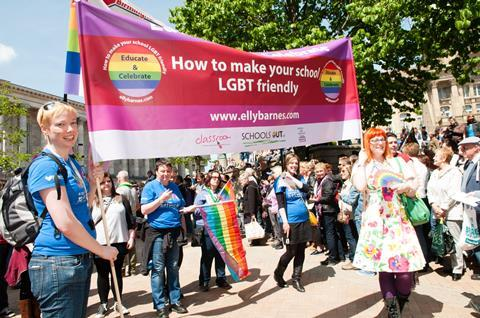 An image showing participants in the Pride March in Birmingham
