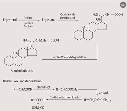 Scheme 1 - Chuang's work on ergosterol's carbon framework
