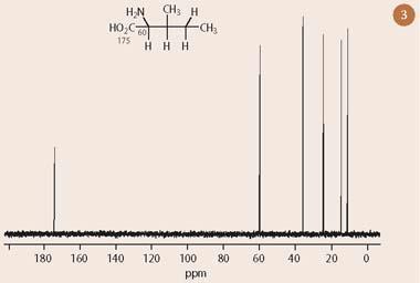 Figure 3 - One dimensional 13C-nmr spectrum of isoleucine