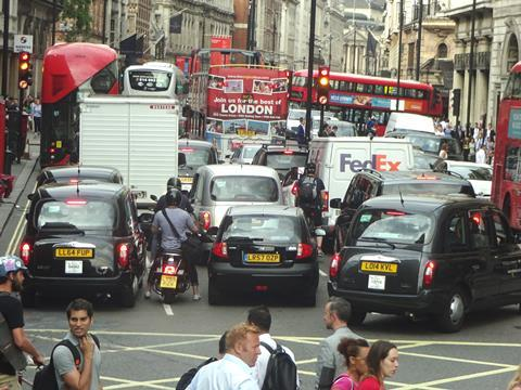 View of a street in Piccadilly, London