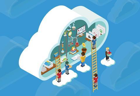Cartoon of a virtual laboratory