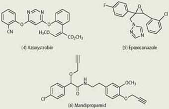 Azoxystrobin, Epoxiconazole and Mandipropamid chemical compounds