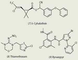 Cyhalothrin, Thiamethoxam and Rynaxypyr chemical compounds