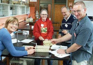 A group of Australian science teachers test one of the activities for the IYC Global Experiment