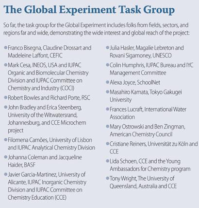 The global experiment task group members