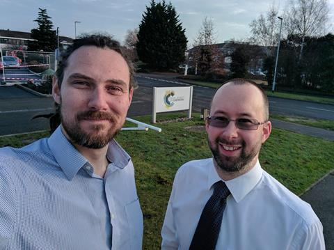 Paul (left) and David (right) – do say hello if you see us!