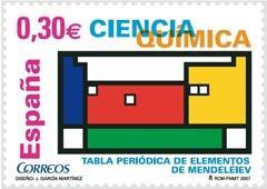 Chemistry related Spanish postage stamp