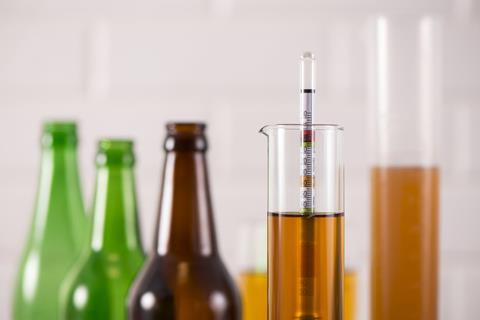Beer bottles and test tubes