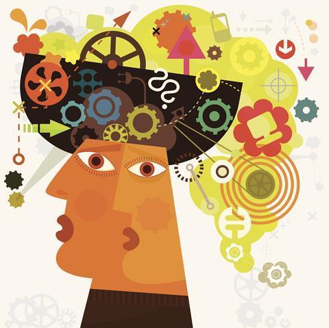 Information overload illustration