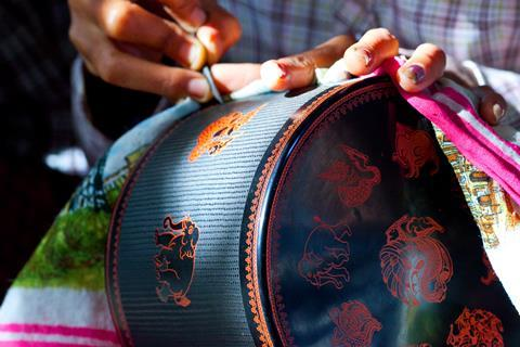 Colourful lacquerware