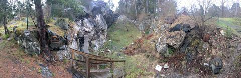 Ytterby - panoramic of mine area