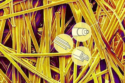 SEM image of paper fibres