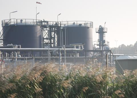 View of a large biorefinery