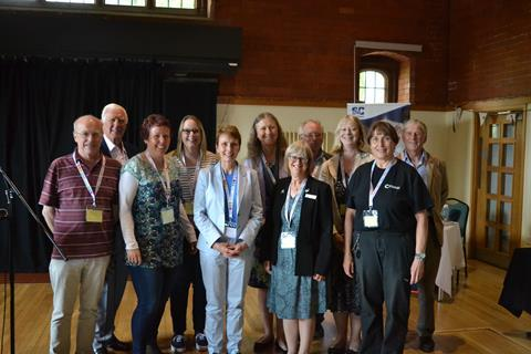 An image showing Helen Sharman and the RSC Secondary and Further Education (SaFE) Group