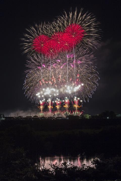An image showing fireworks at the Omagari festival