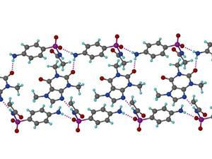Sulfacetamide and caffeine cocrystal diagram