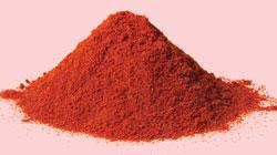 A pile of paprika, potentially sprinkled with lead