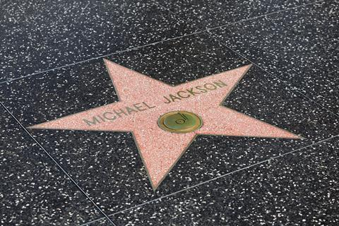Michael Jackson's star on the walk of fame
