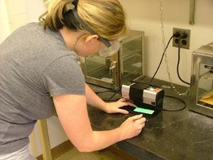 Are we there yet? A student uses thin-layer chromatography to assess the reaction's progress