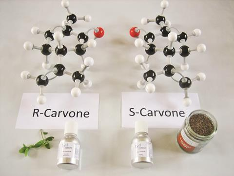 R-Carvone and S-Carvone