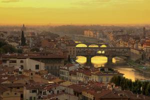 Ponte vecchio at sunset[1]