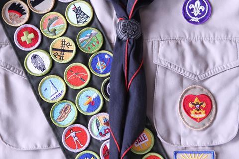 Boy scout shirt with badges