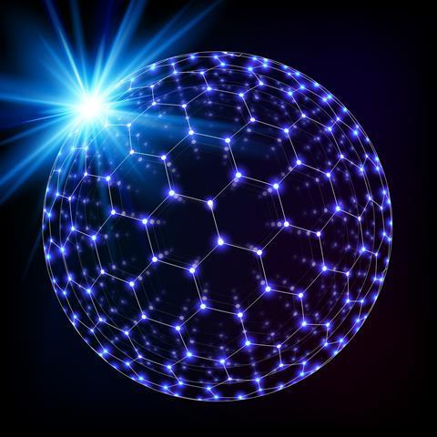 A buckyball made of stars