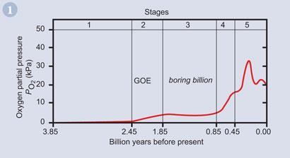 Figure 1 - The currently-accepted variation of atmospheric oxygen concentration over the last 4 billion years of the Earth's history1