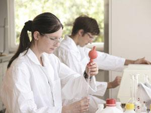 Students in a chemistry laboratory