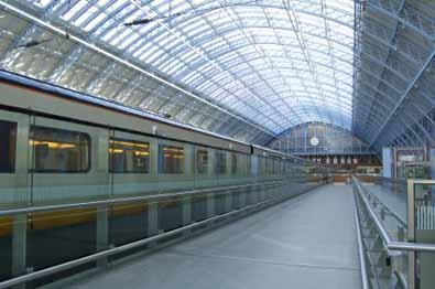 Crystal clear view of St Pancras, home to Eurostar