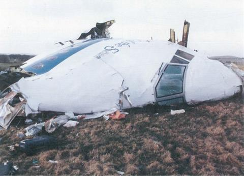 The crash of Pan Am flight 103