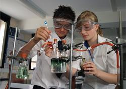Students engaging in a practical experiment