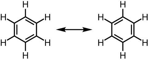 Benzene resonance structures