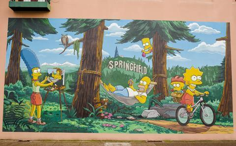 The Simpsons mural