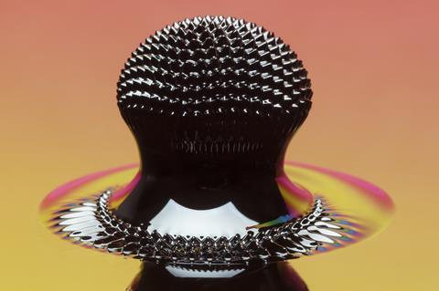 An unusual ferrofluid structure