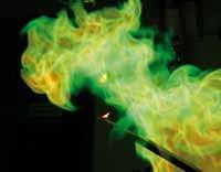 what is the flame color of potassium chloride