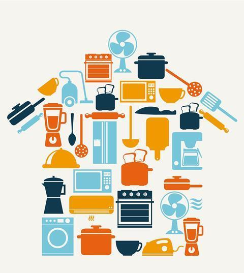 Home appliances which use energy