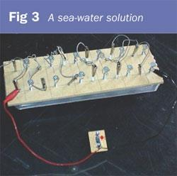 Figure 3 - A sea-water solution