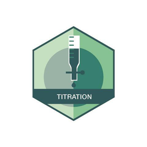 Titration badge