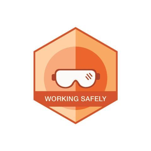 Working Safely badge