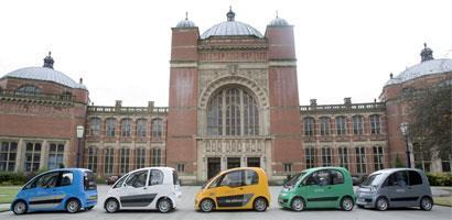 Hydrogen fuelled cars at the University of Birmingham